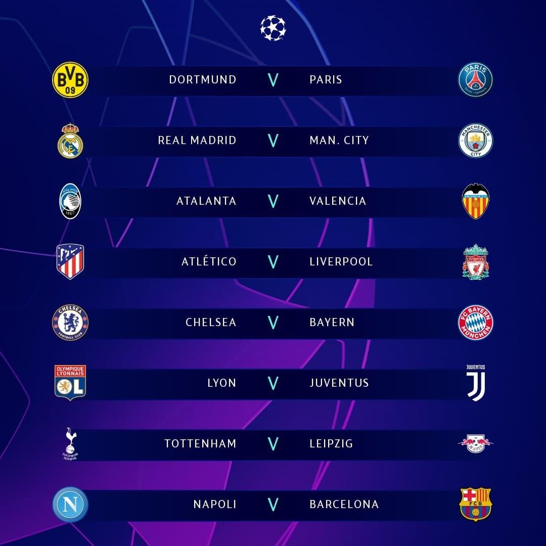 jadwal pertandingan liga champions 2019/2020