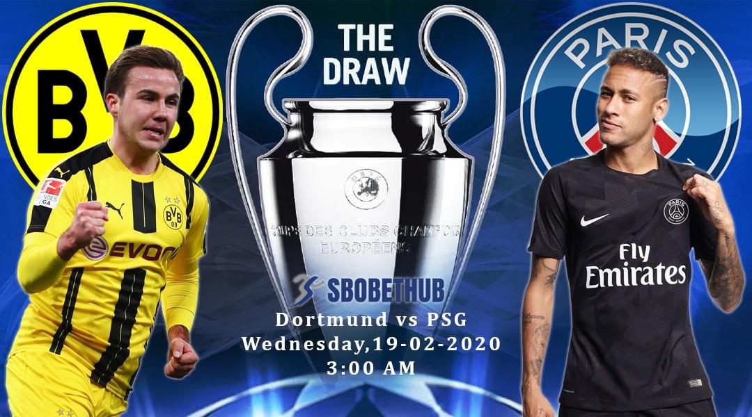 Prediksi Pertandingan Liga Champions 2019/2020 : Borrusia Dortmund VS Paris Saint German