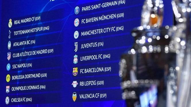 hasil drawing babak 16 besar Liga Champions 2019/2020